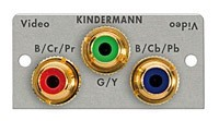 Kindermann Componenten-Video Modul mit Kabelpeitsche