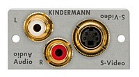 Kindermann S-Video Audio Modul mit Lötanschluss