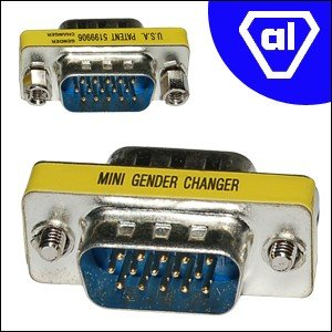 Gender Changer Sub-D 15pol. HD Stecker auf Stecker